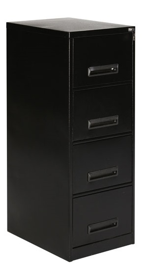 Blue Pointer Filing Cabinet 4 Drawer Steel - Black( Delivery to main centres only)
