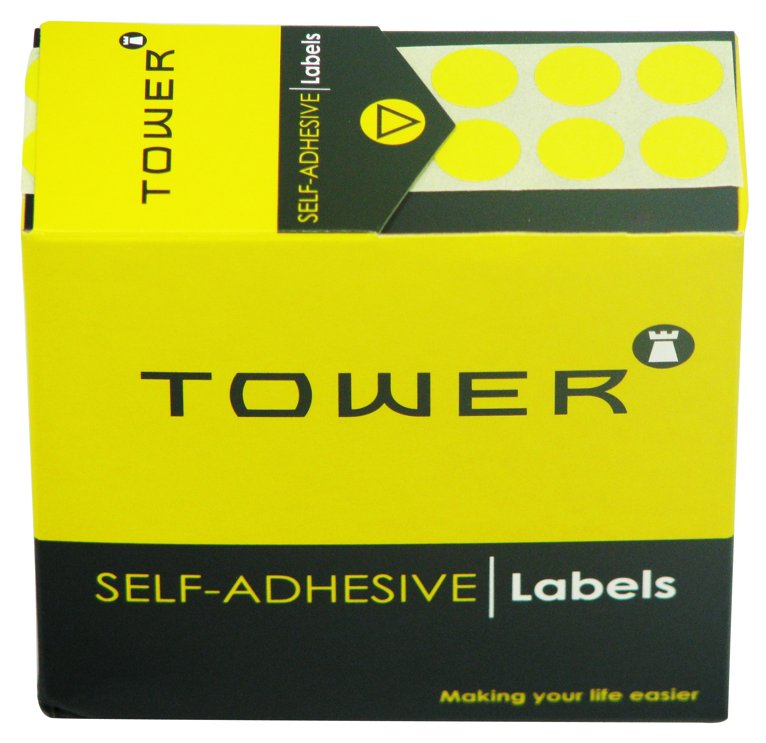 Tower C10 Label Yellow