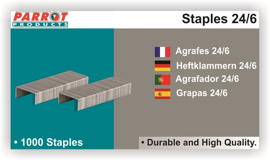 Parrot Staples 24-6  (1000pcs) 20 Pages