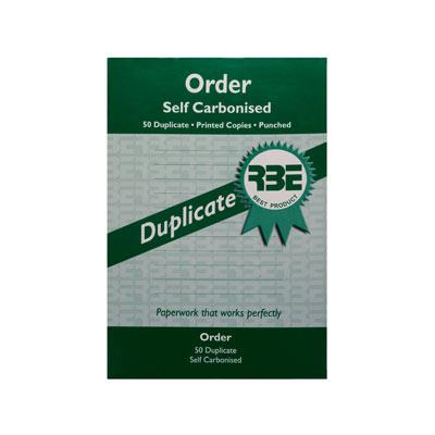 RBE Order Dupl SCarb