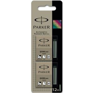 Parker Cart FP Black Cartridges Box 12