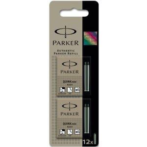Parker Cart FP Black Cartridges Box 12