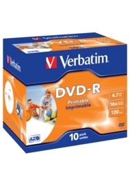 Verbatim DVD-R Printable 16x Speed 4.7GB 10pack