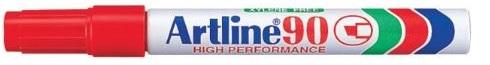 Artline EK90 Marker Red Chisel