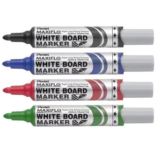Pentel MWL5 Maxiflo Whiteboard Red Broad
