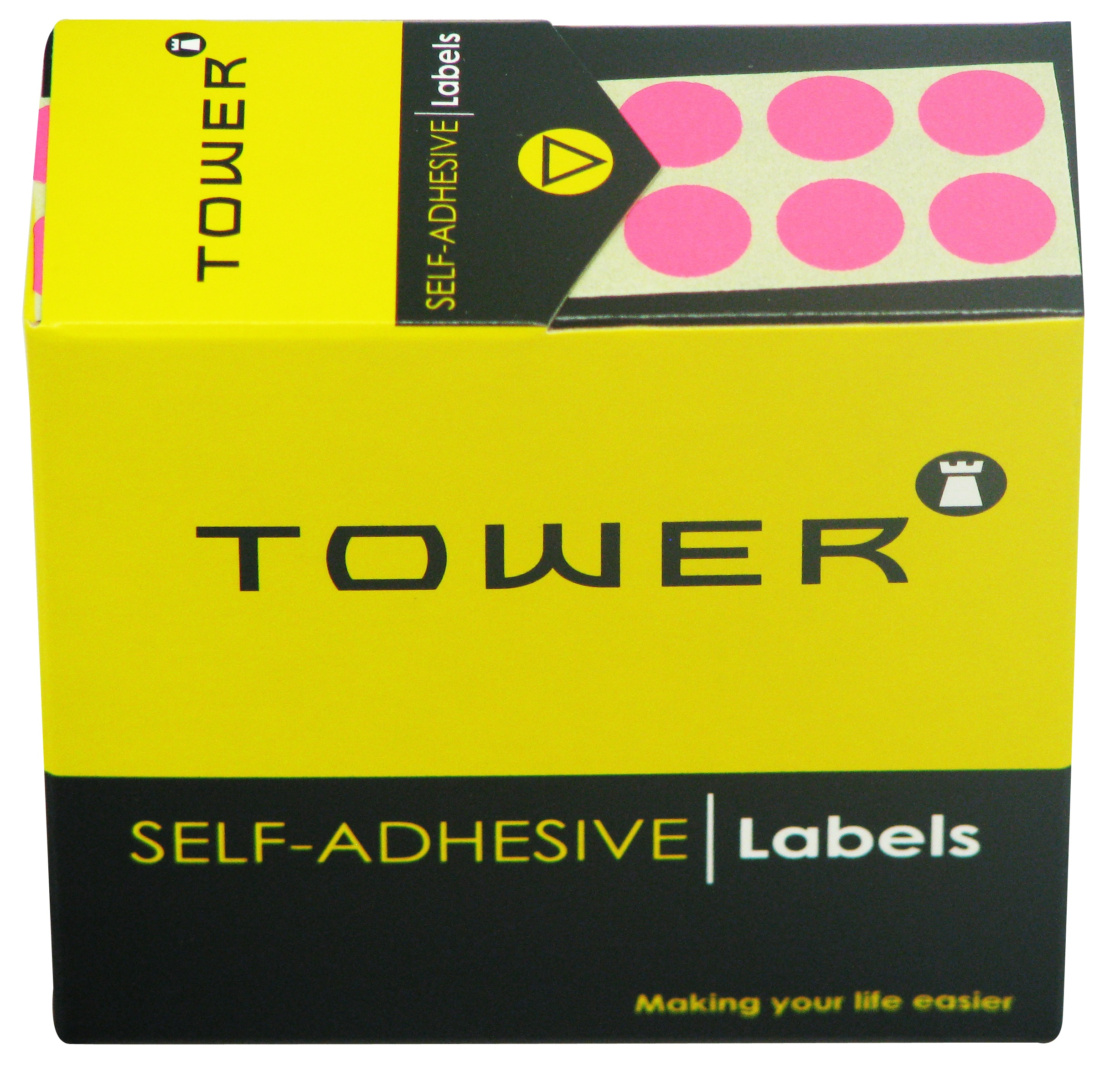 Tower C10 Label Flu Pink