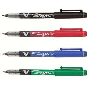 Pilot V Sign Pen Black