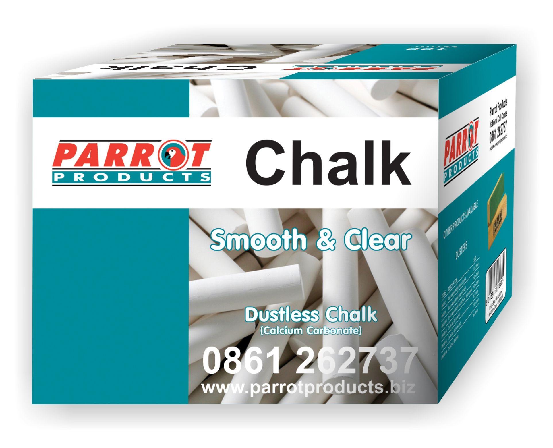 Parrot Chalk Dustless Box 100 White