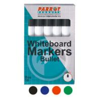 Parrot Marker Whiteboard Bullet Box 10 Red