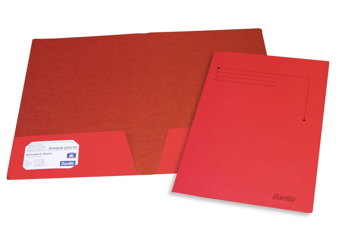 Bantex Presentation Folder A4 Red