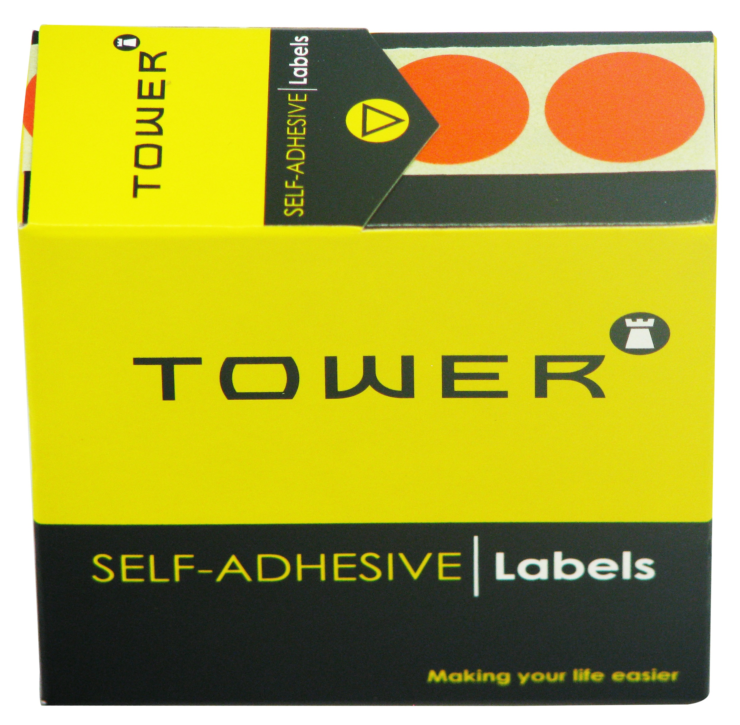 Tower C19 Label Orange