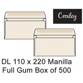 Croxley Envelopes Dl 110x220 Full Gum - Enb92sm