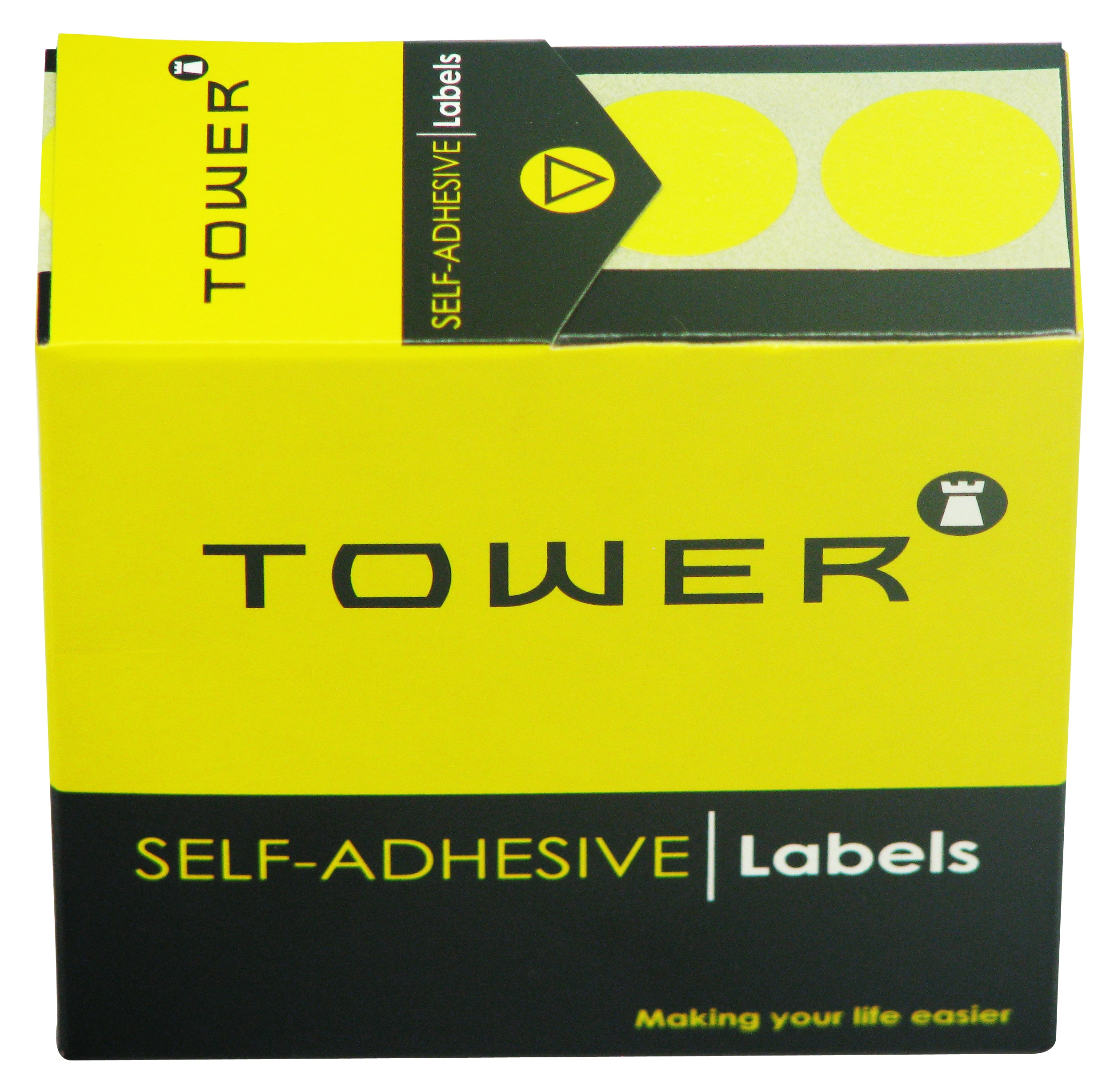 Tower C19 Label Yellow