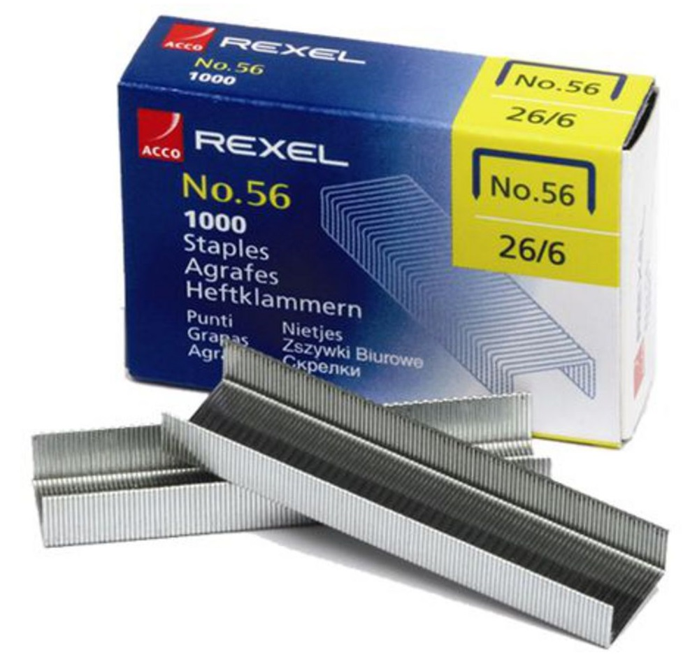 Rexel 56 Staples 1000's(20 Sheet Capacity)