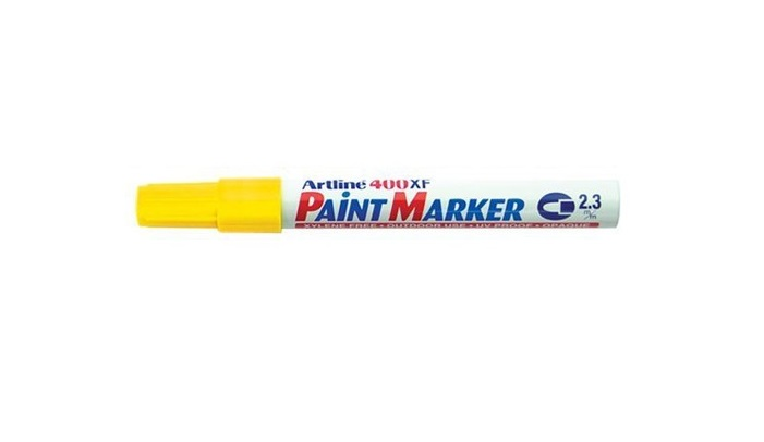 Artline EK400 Paint Marker Yellow