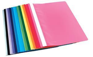 A4 Lt-Blue Quotation Folder Clear Front