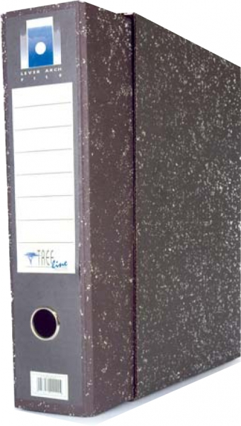 Black F/S U/R Lever Arch File With Dustcover