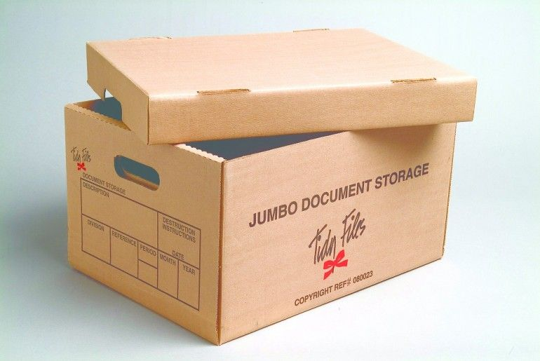 Tidy Files Jumbo Document Storage Box With Lid