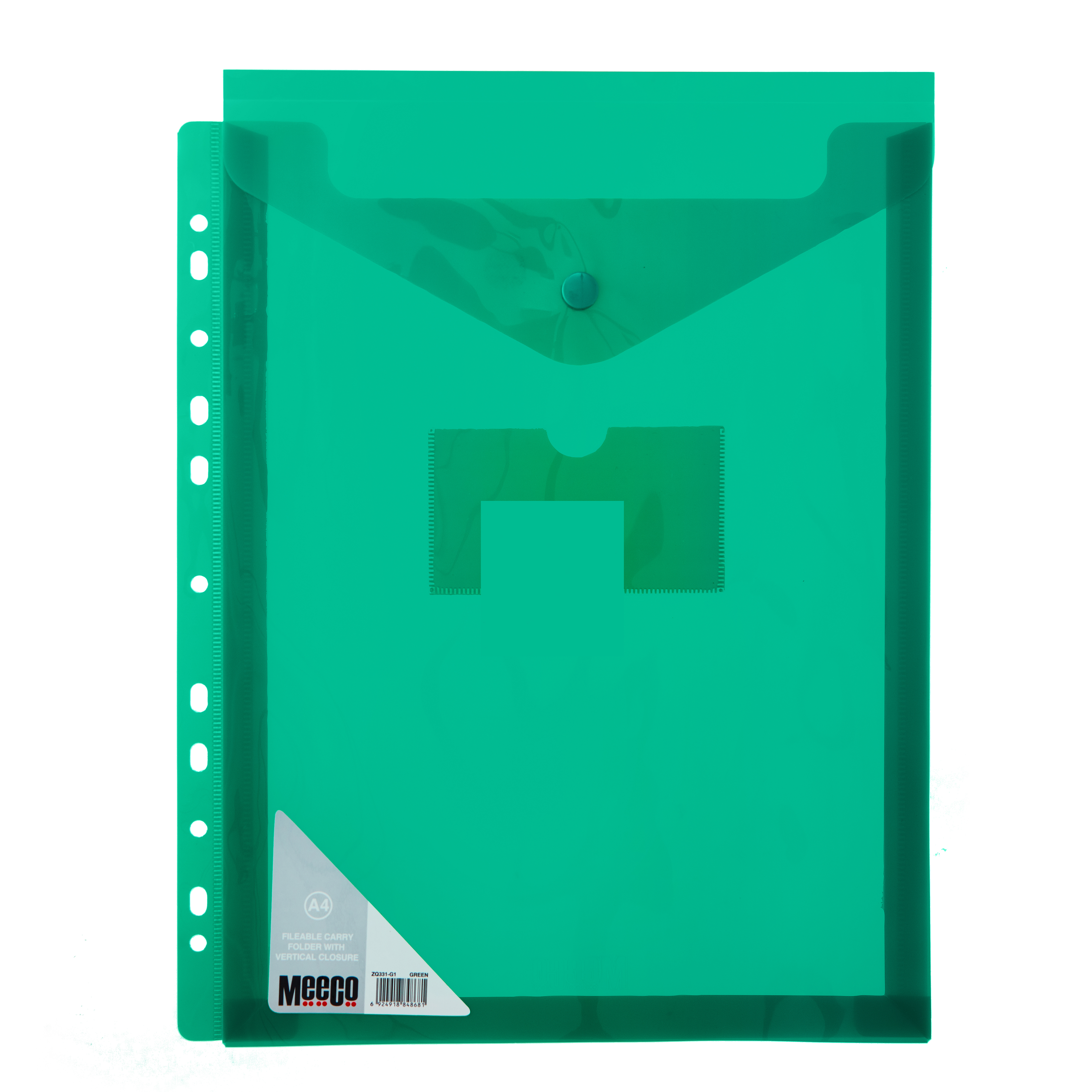 VERTICLE FILABLE CARRY FOLDER A4 GREEN Pack 5