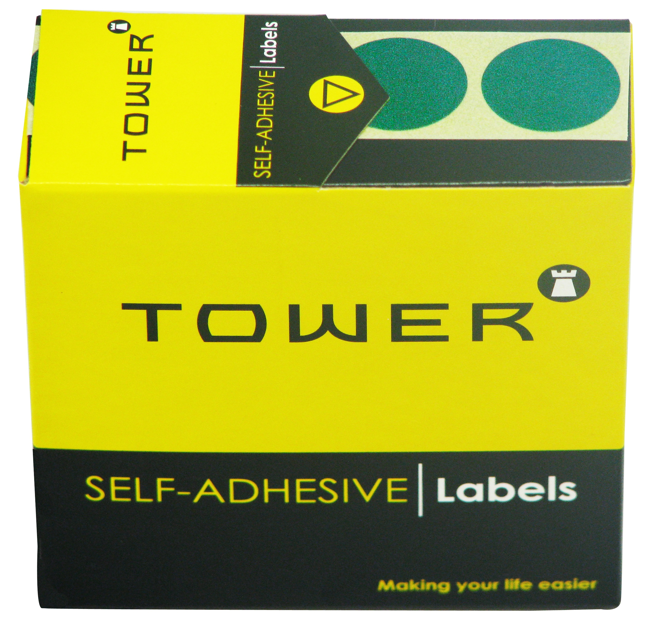 Tower C25 Label Green