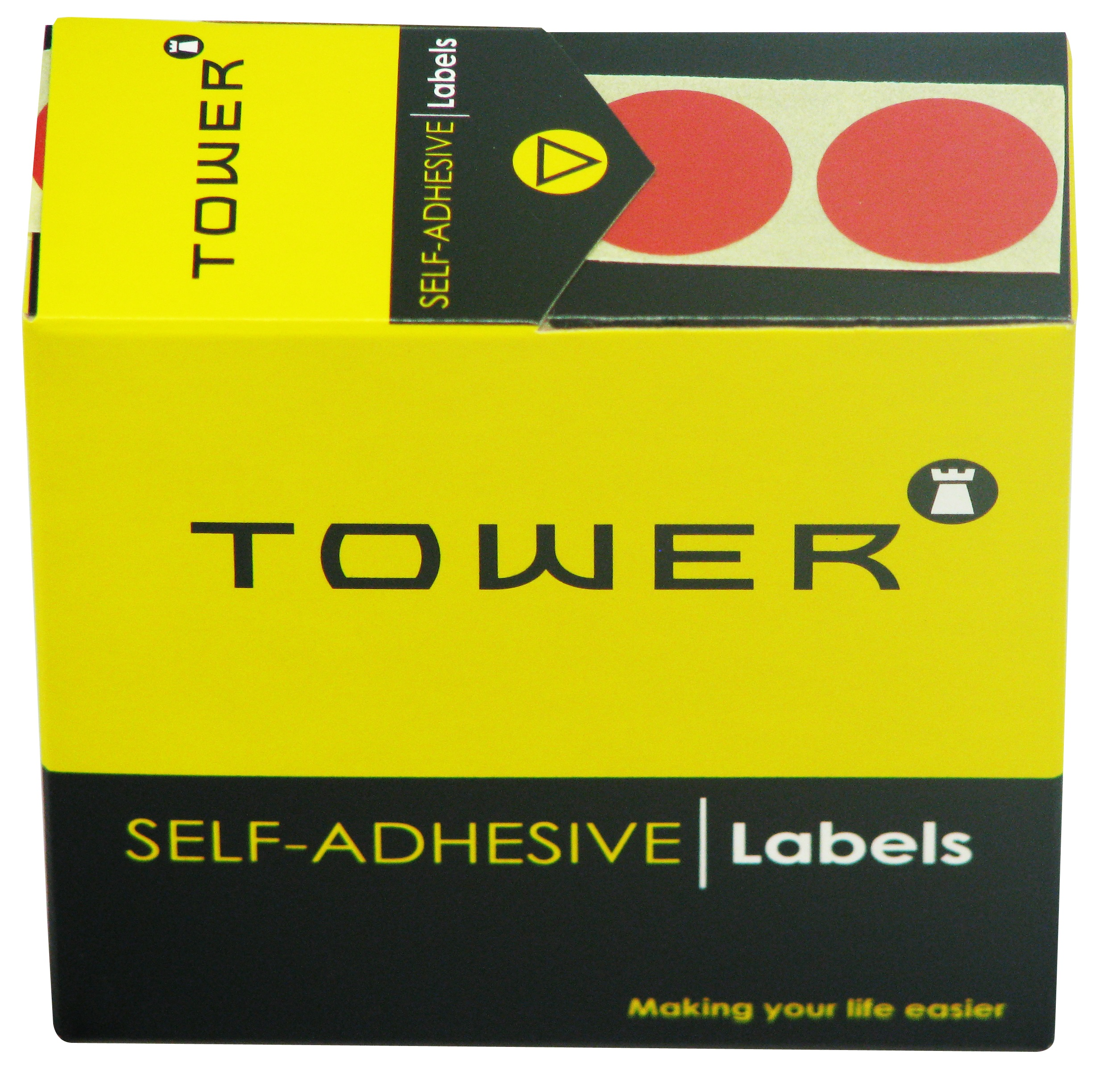 Tower C25 Label Red