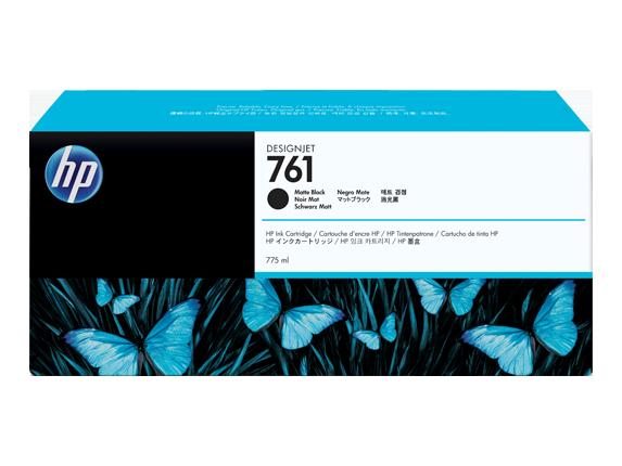 HP 761 775ML Matte Black Ink Cartridge/Designjet T7100