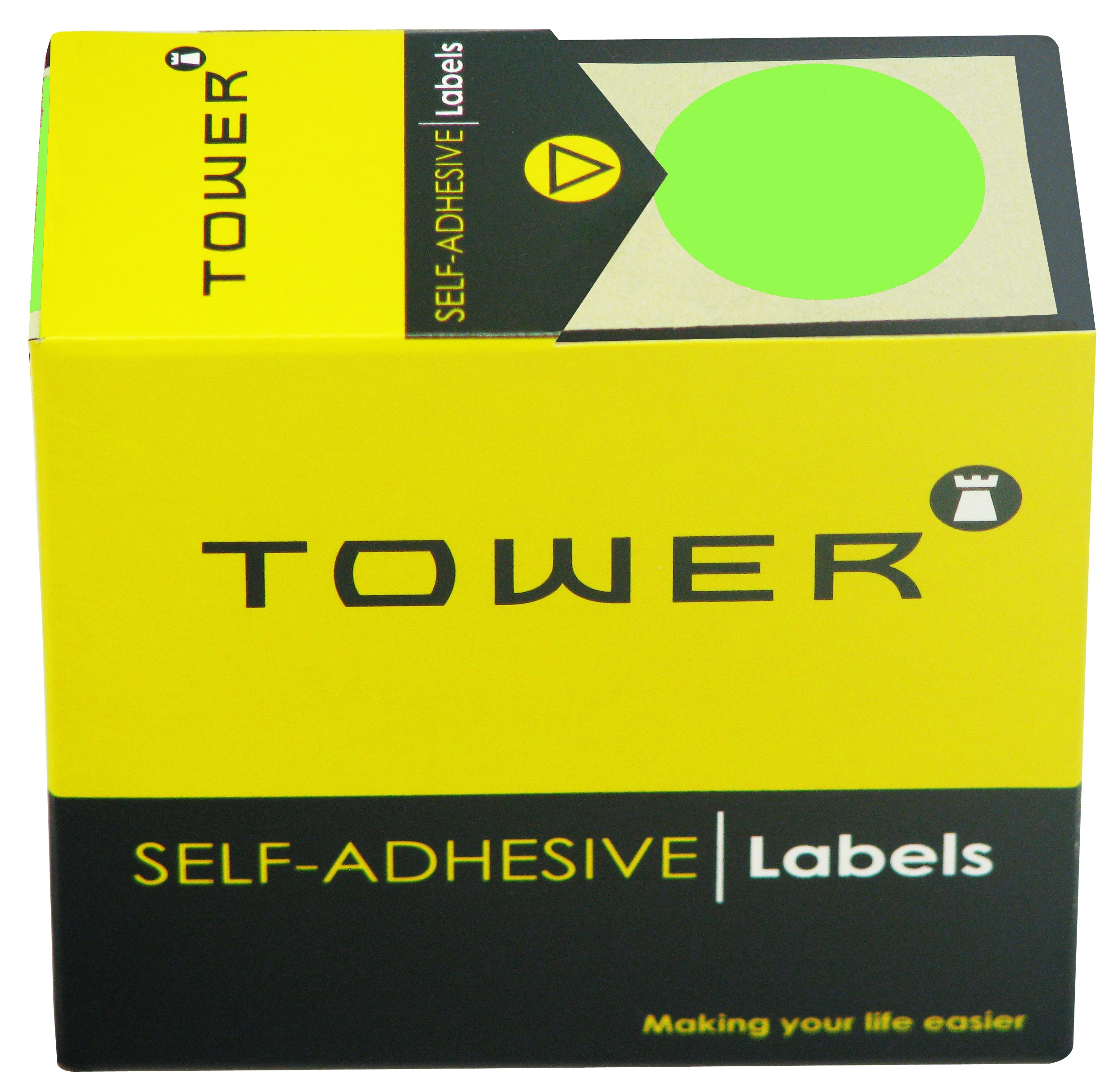 Tower C32 Label Flu Green