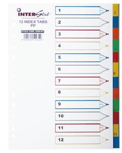 A4 PVC Index Col 1-12