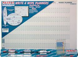Parrot Year Planner Write N Wipe 800mmx600mm