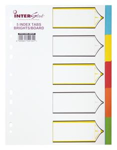 I-S 5 Tab Dividers Bright