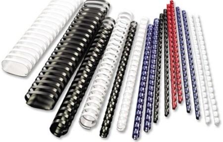 Rexel 12.5mm White Binding Combs