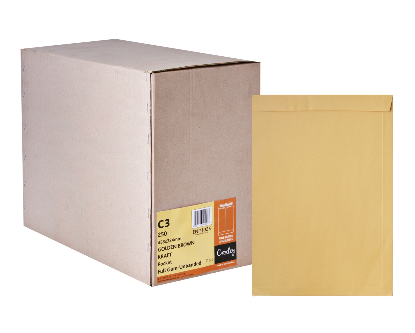 Croxley Envelopes C3 458 X 324 Full Gum Manilla