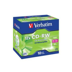 Verbatim CD-Rw 12x Speed 700mb 10 Pack