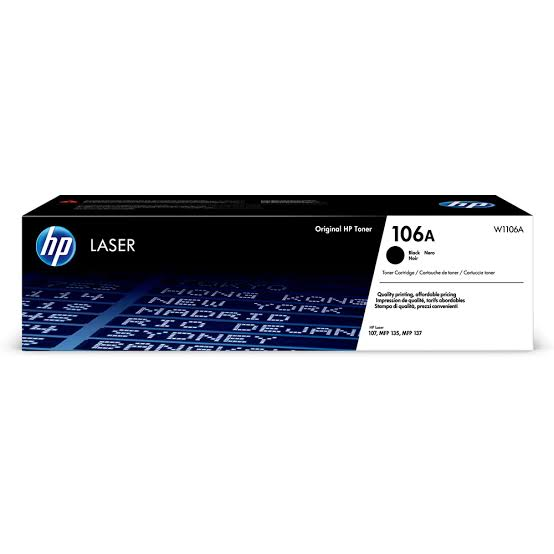 HP 106A BLACK LASERJET TONER FOR LASER 107/MFP 135/137