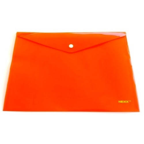 NEXX PP A4 BUTTON ENVELOPE ORANGE