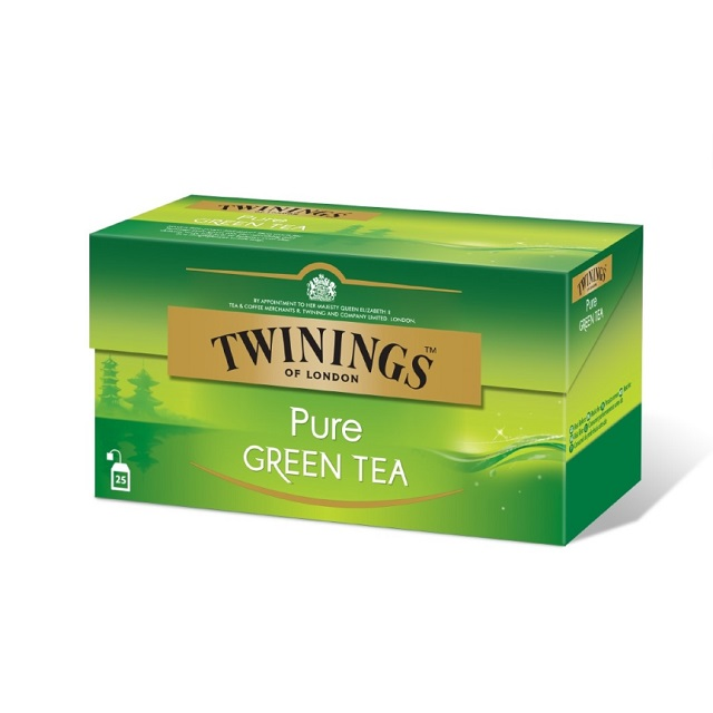 TEABAGS ENVOS PURE GREEN TEA TWININGS 25