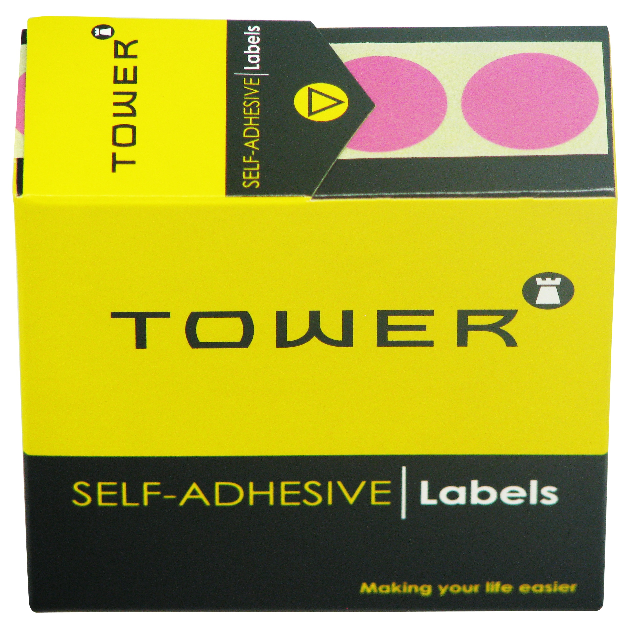 Tower C25 Label Pink