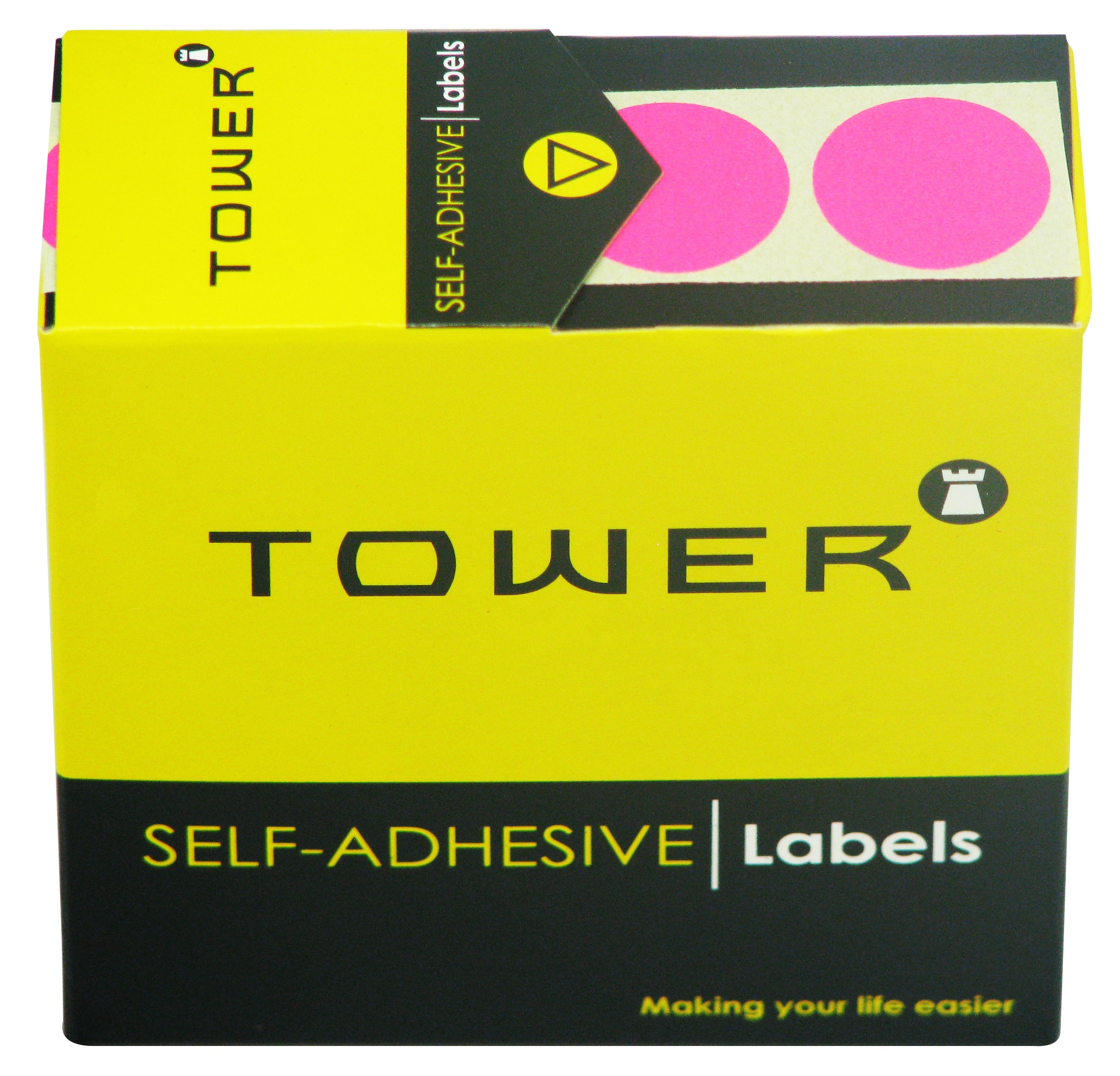 Tower C19 Label Flu Pink