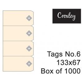Croxley No 6 Buff Tags 133x67mm - Tag6