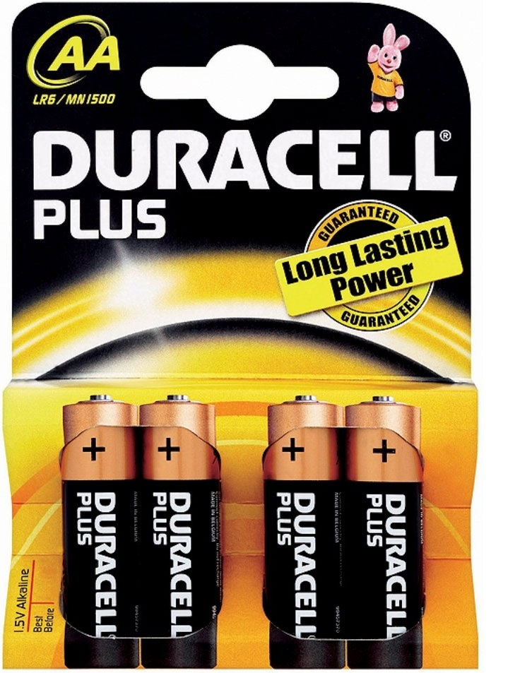 Duracell Batteries Non Rechargeable AA Pack 4