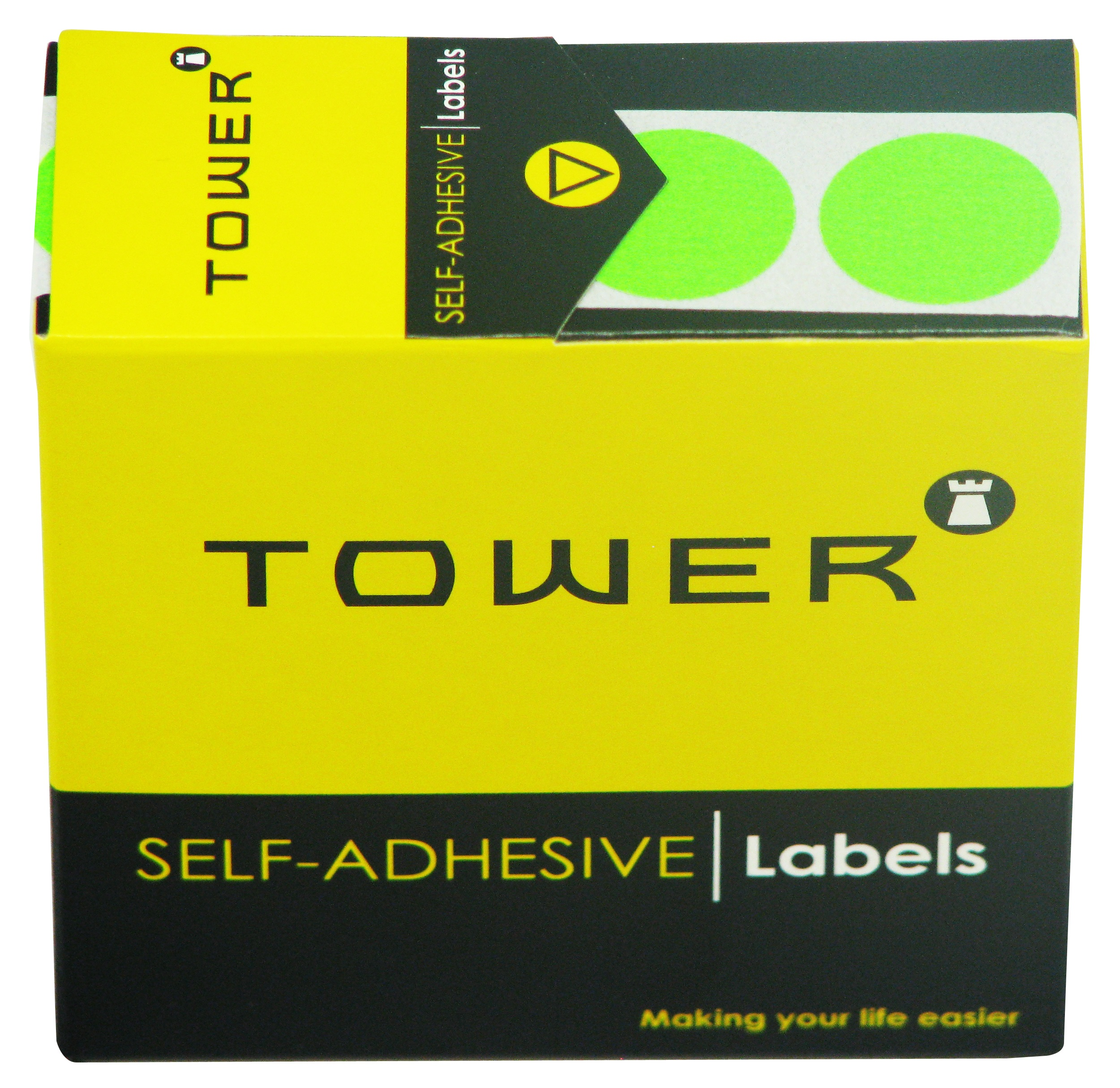 Tower C25 Label Flu Green