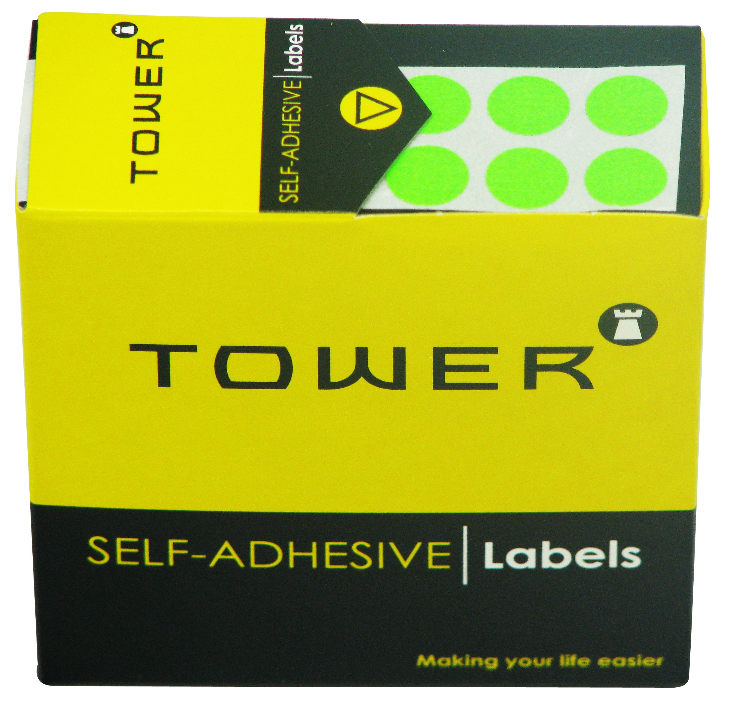 Tower C10 Label Flu Green