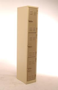Blue Pointer Factory Locker - 3 Tier