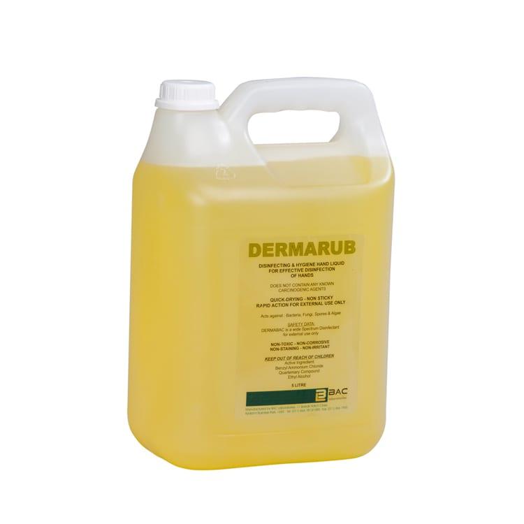 Hand sanitising - Dermarub- 70% Ethanol - 5L