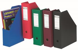 Bantex PVC Mag File Colapsible Red