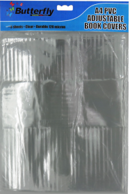 A4 Adjustable Plastic Bk Cover 120 MIC 5 Per Pack PVC