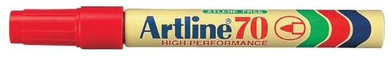 Artline EK70 Marker Red Bullet