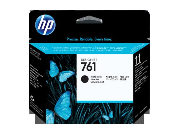 HP 761 Matte Black and Matte Black Designjet Printhead