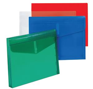 Bantex Polyprop Envelope A4 Horizontal Blue Velcro