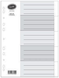 Bantex A4 5 Div White Board Index